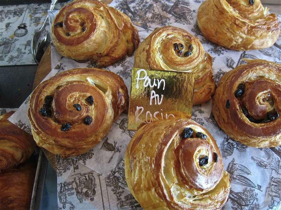 Pain aux raisins, one of the croissant-style pastries. Photo: Alison Cook, Houston Chronicle