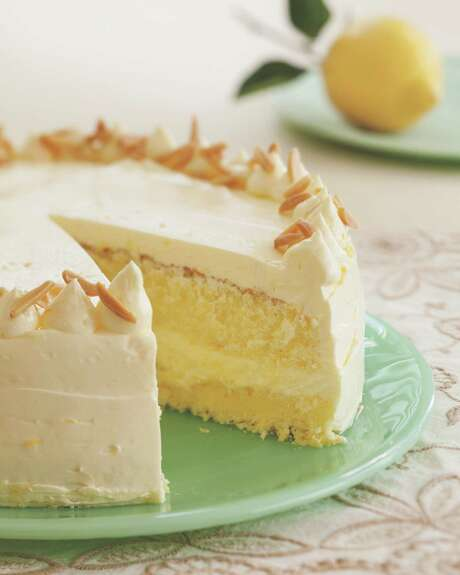 """Lemon Layer Cake is featured in the Citrus chapter of  """"Flavorful"""" by Tish Boyle. Photo: Tish Boyle / © Andrew Meade"""