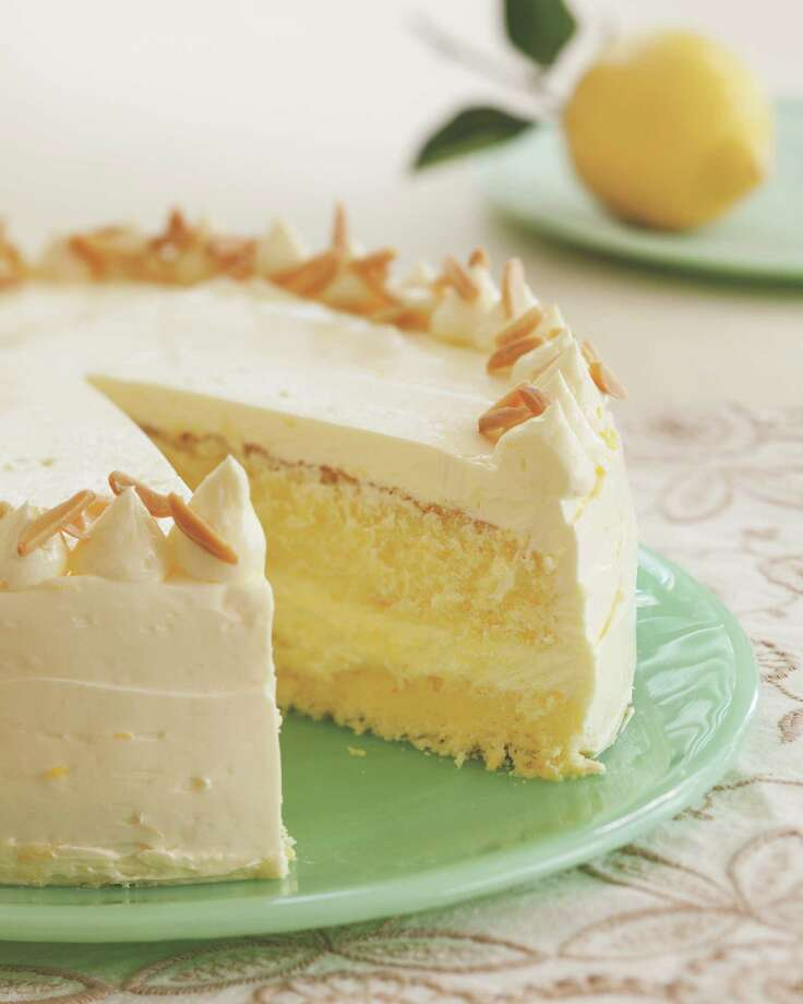 "Lemon Layer Cake is featured in the Citrus chapter of  ""Flavorful"" by Tish Boyle. Photo: Tish Boyle / © Andrew Meade"