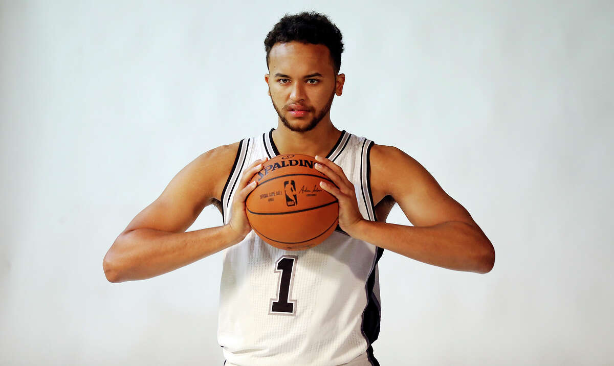 San Antonio Spurs' Kyle Anderson is photographed during media day Monday Sept. 28, 2015 at the Spurs practice facility.