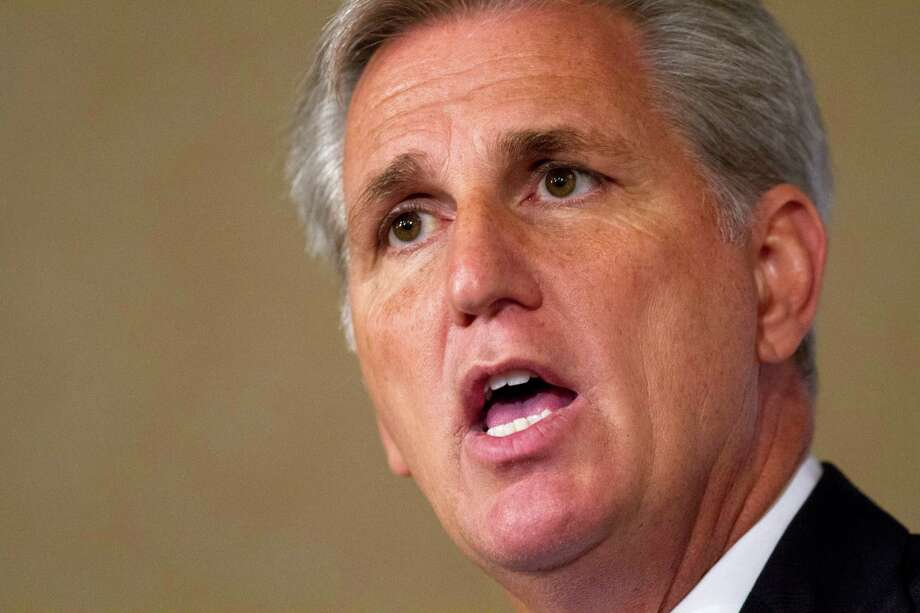 House Majority Leader Kevin McCarthy of California is the front-runner for speaker. Photo: Jacquelyn Martin /Associated Press / AP