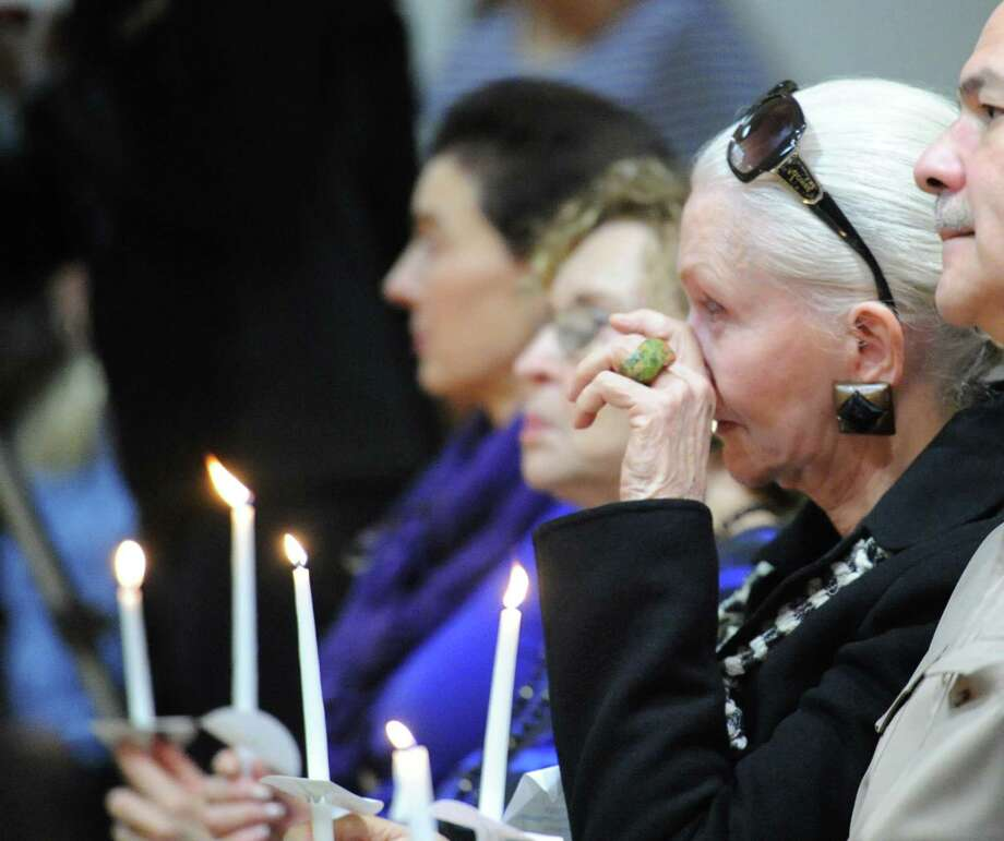The YWCA of Greenwich Domestic Abuse Services annual Candlelight Vigil to raise awareness about domestic violence at the organization's facility, shown here in 2014, will be held at 6:30 p.m. Oct. 10 this year. Photo: Bob Luckey / Bob Luckey / Greenwich Time