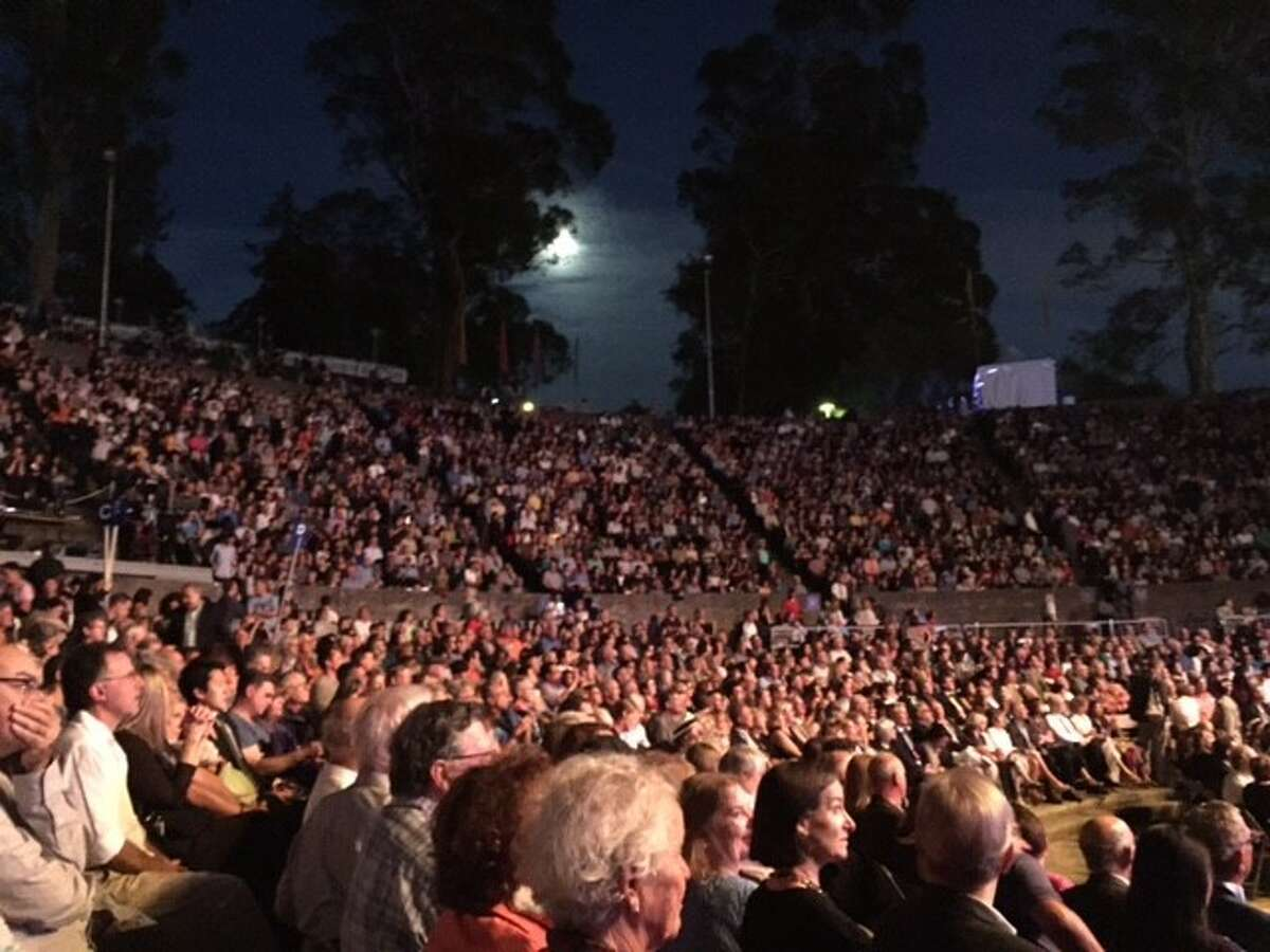 Moonrise at Greek Theatre, for Cal Performances gala