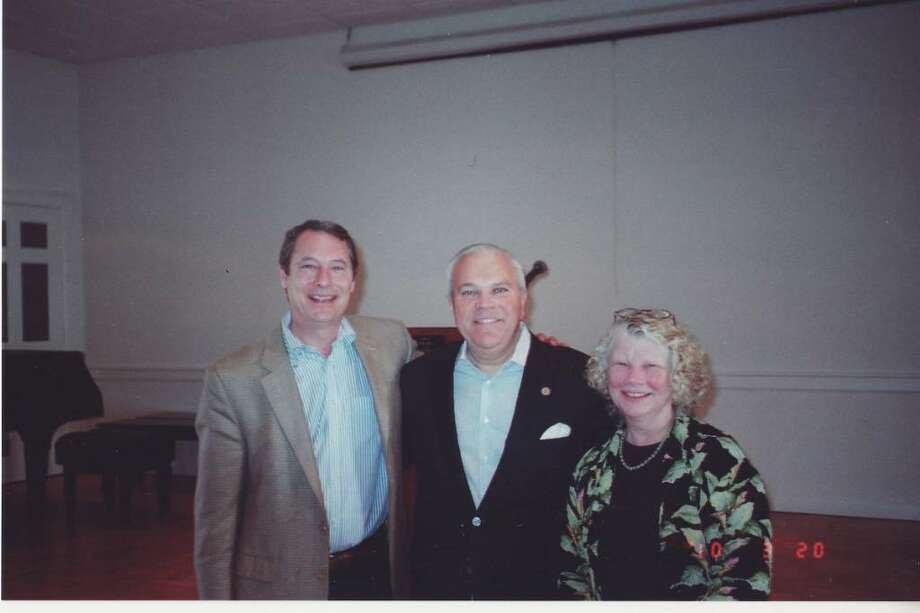 Lieutenant Governor Michalel Fedele served as guest speaker at the Republican Club of Darien's Annual Meetin at the DCA on Saturday, March 20. Flanking him are Bruce Orr, interim president and Joi Reiner Gallo, vice president of programs. Photo: Contributed Photo / Darien News