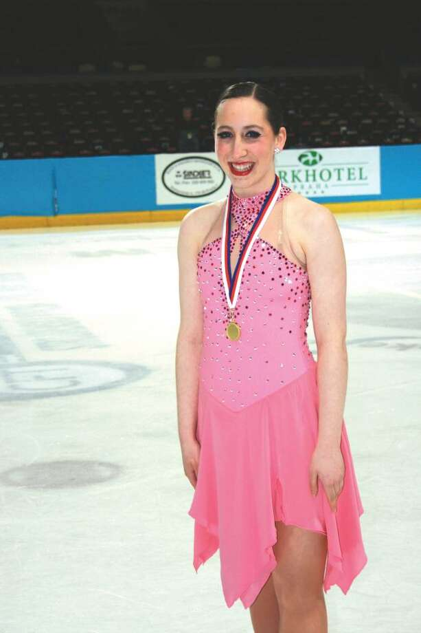 Ashley Mulhern, a junior at New Canaan High School, competed in the World Synchronized Skating Challenge Cup in Sweden earlier this month with her team, the Skyliners. Mulhern and her 15 tri-state teammates placed fifth. Photo: Contributed Photo / New Canaan News