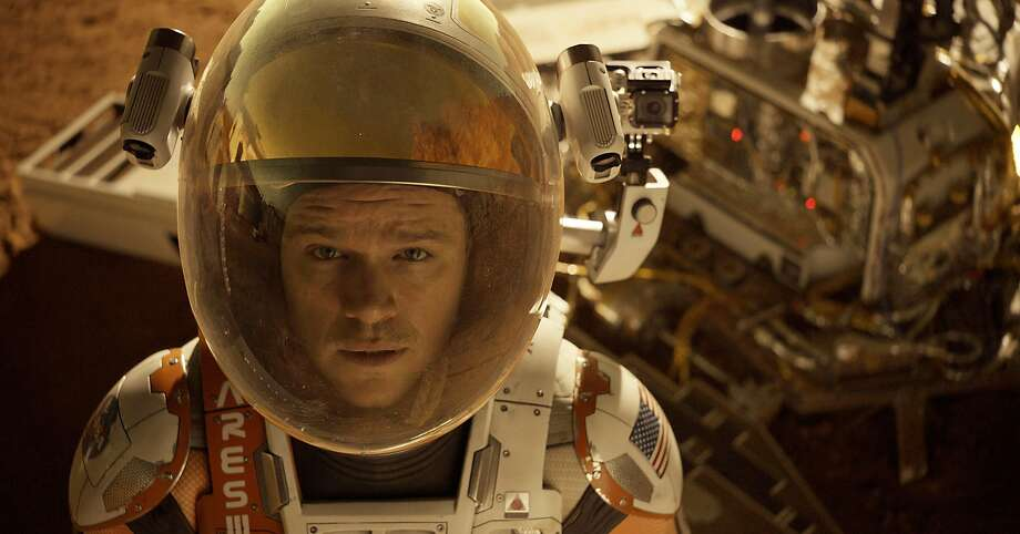 """This photo released by 20th Century Fox shows Matt Damon in a scene from the film, """"The Martian.""""  (Aidan Monaghan/20th Century Fox via AP) Photo: Aidan Monaghan, Associated Press"""