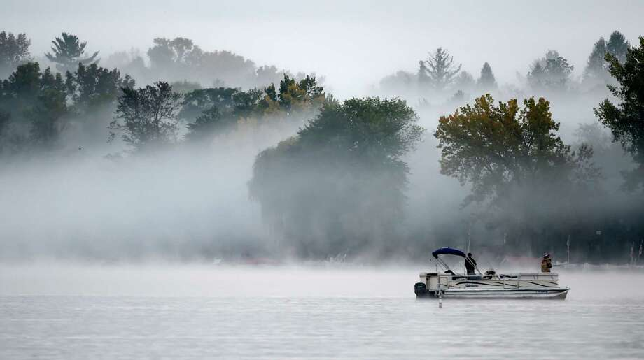 Fog greets fishermen on a beautiful morning on Saratoga Lake on early Monday, Sept. 28, 2015, in Stillwater, N.Y. (Skip Dickstein/Times Union) Photo: SKIP DICKSTEIN