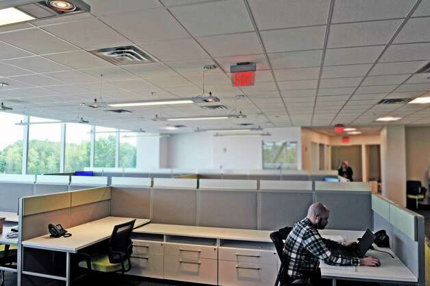 A view inside the office space of high-tech architectural and engineering firm DPS Engineering in the Zero Energy Nanotechnology (ZEN) building at the College of Nanoscale Science and Engineering at SUNY Polytechnic Institute, seen here on Monday, Sept. 28, 2015, in Albany, N.Y.  The company has chosen this location for their U.S. Advanced Technology Group headquarters.  They plan to create 56 new jobs with help from the STARTUP-NY Initiative. The firm will occupy a 5,000 square foot space within the Zen Building. (Paul Buckowski / Times Union) Photo: PAUL BUCKOWSKI / 00033537A