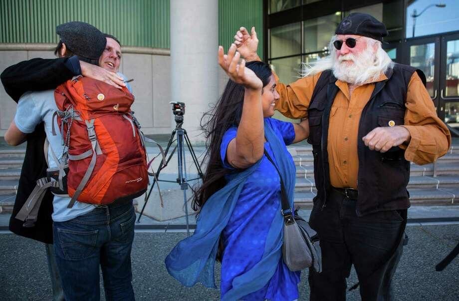 Activists who had opposed Shell drilling in the Arctic celebrate Monday in Seattle. Photo: Ruth Fremson /New York Times / NYTNS