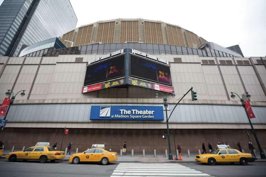 NEW YORK, NY - DECEMBER 31:  A general view of the exterior facade of The Theater at Madison Square Garden on December 31, 2013 in New York City. Ultimate Fighting Championship, the biggest brand name in professional mixed martial arts, will move ahead with plans for an April 23, 2016, bout at Madison Square Garden despite New York?s ongoing ban on pro MMA fights. (Photo by Ben Hider/Getty Images) Photo: Ben Hider / 2013 Ben Hider