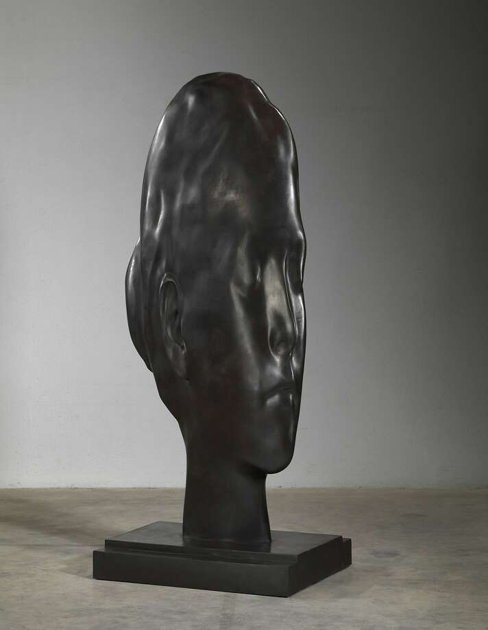 "Jaume Plensa, ""Laura in Huesca,"" 2014, bronze, currently on display at the Haines Gallery. Photo: HainesGallery And Galerie LeLong"