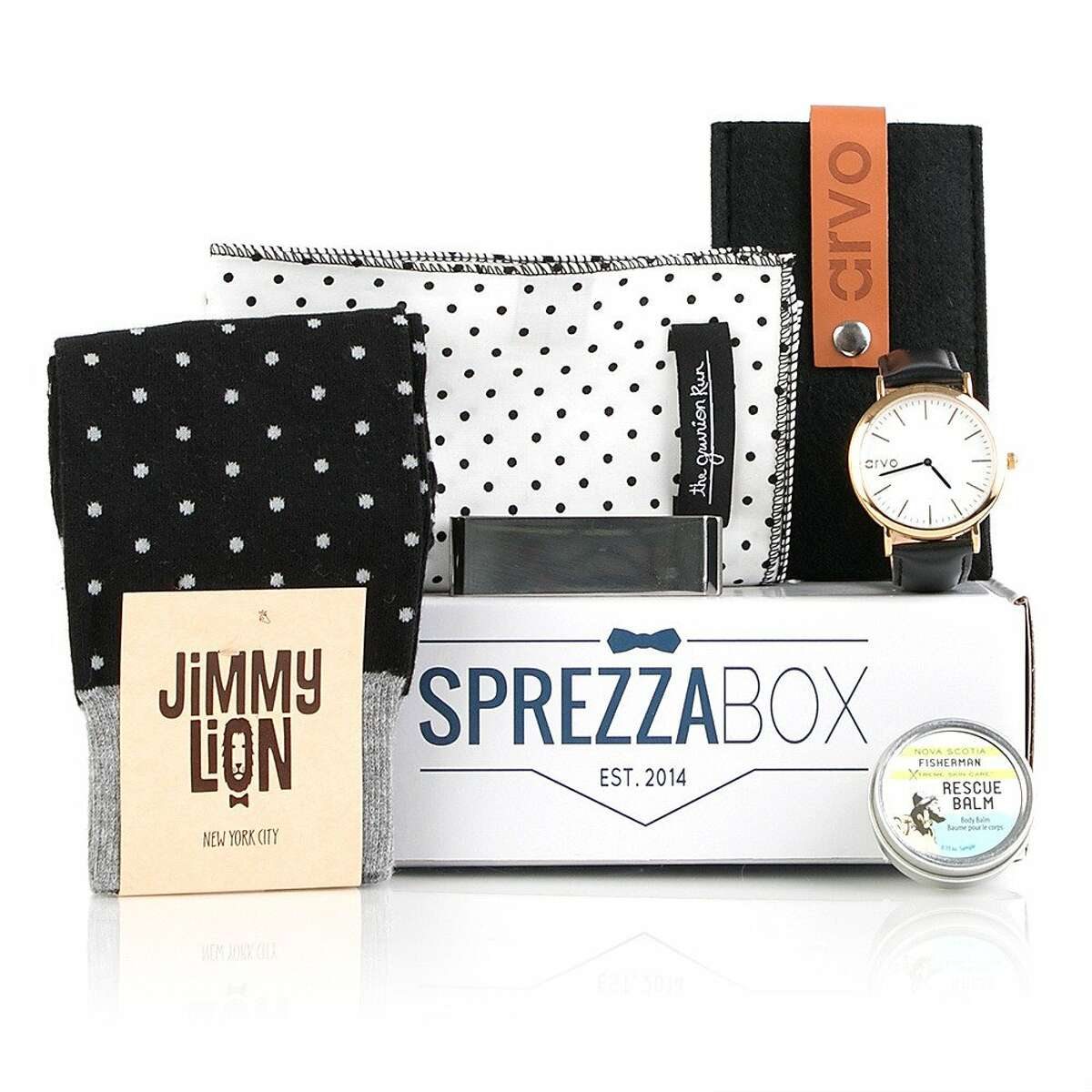 Sprezzabox. At $28 per month, Sprezzabox promises to upgrade your style with ties, watch straps, and shoehorns.
