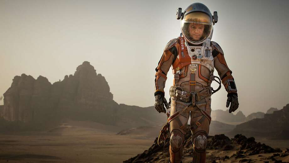 """Matt Damon stars as an astronaut lost on Mars trying to survive in """"The Martian."""" Photo: Aidan Monaghan, Associated Press"""