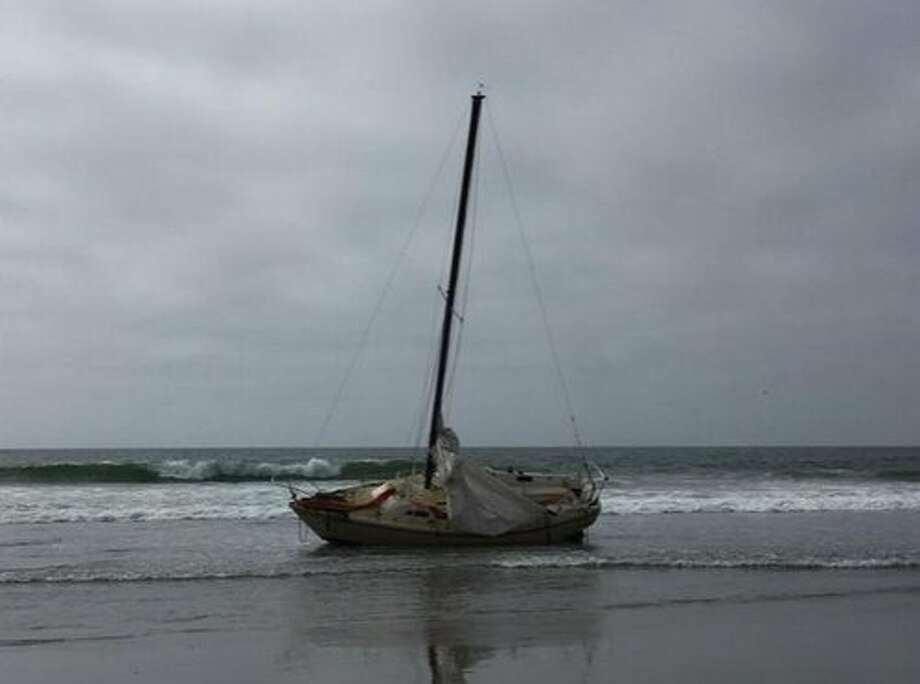 Two men were rescued Monday from a sailboat off of Ocean Beach in the Golden Gate National Recreation Area. Photo: Courtesy, D. Boyer