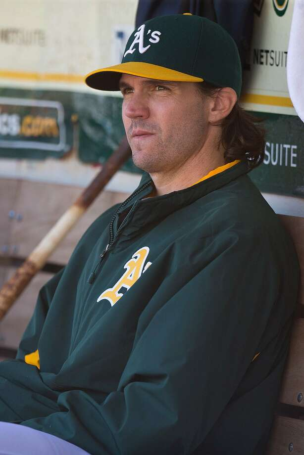 OAKLAND, CA - SEPTEMBER 26:  Barry Zito #75 of the Oakland Athletics sits in the dugout during the fourth inning against the San Francisco Giants at O.co Coliseum on September 26, 2015 in Oakland, California.  The San Francisco Giants defeated the Oakland Athletics 14-10. (Photo by Jason O. Watson/Getty Images) Photo: Jason O. Watson, Getty Images