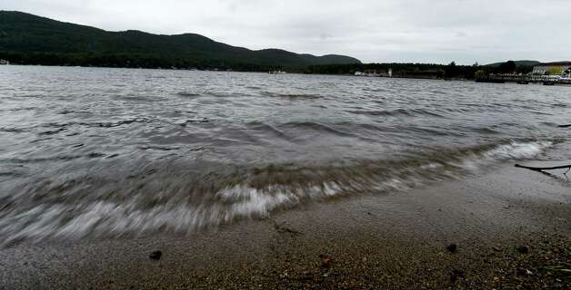 Lake George looking east from the Village beach Monday afternoon, Sept. 28, 2015, in Lake George, N.Y. During the last three decades, salt levels in Lake George have tripled, making the lake now about 30 times saltier than an undeveloped Adirondack Lake.  (Skip Dickstein/Times Union) Photo: SKIP DICKSTEIN / 00033528A