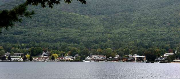 Lake George Village Monday afternoon, Sept. 28, 2015, in Lake George, N.Y.  During the last three decades, salt levels in Lake George have tripled, making the lake now about 30 times saltier than an undeveloped Adirondack Lake. (Skip Dickstein/Times Union) Photo: SKIP DICKSTEIN / 00033528A