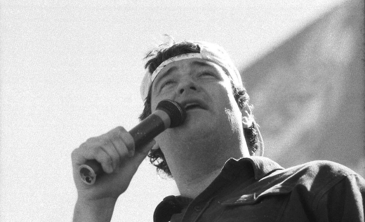 Comedian Michael Pritchard opened when Pope John Paul II performed a Mass at Candlestick Park on Sept. 18, 1987.