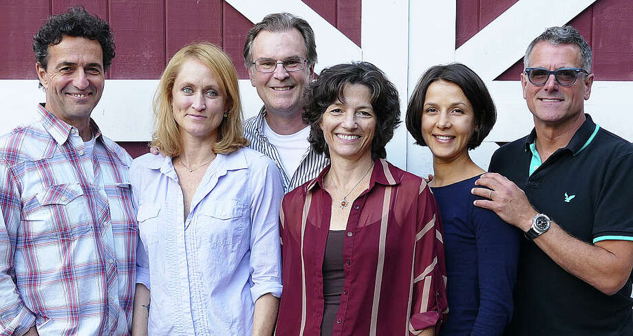 "The cast of Arthur Miller's ""Broken Glass"" at the Westport Country Playhouse includes, from left, Stephen Schnetzer, Angela Reed, John Hillner, Felicity Jones, Merritt Janson and Steven Skybell. Photo: Contributed / Contributed Photo / Westport News"