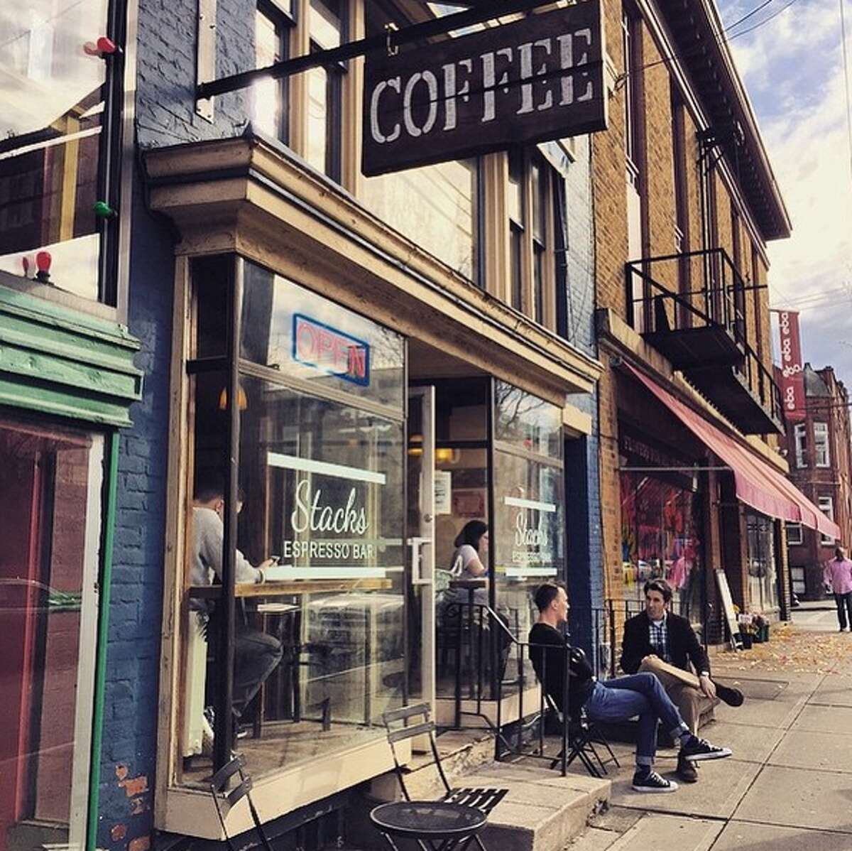 Stacks Espresso Bar. Where: 260 Lark St., Albany. Visit the website. Read the Yelp reviews.