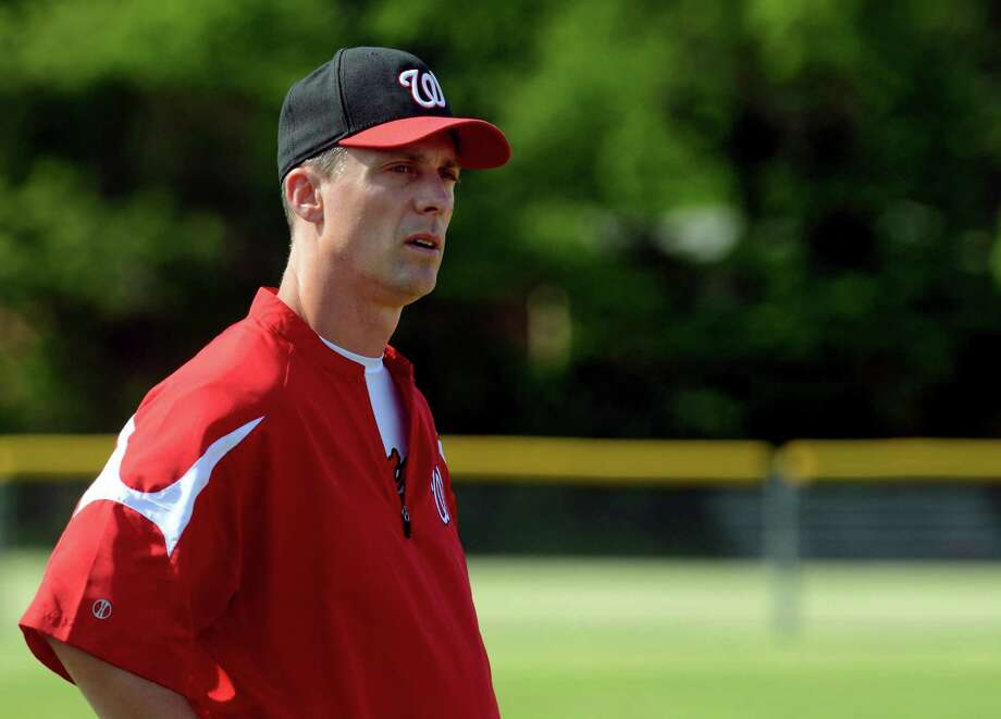Class LL baseball action between Greenwich and Fairfield Warde in Fairfield, Conn., on Wednesday June 3, 2015. Fairfield Warde Head Coach Mark Caron. Photo: Christian Abraham / Christian Abraham / Connecticut Post