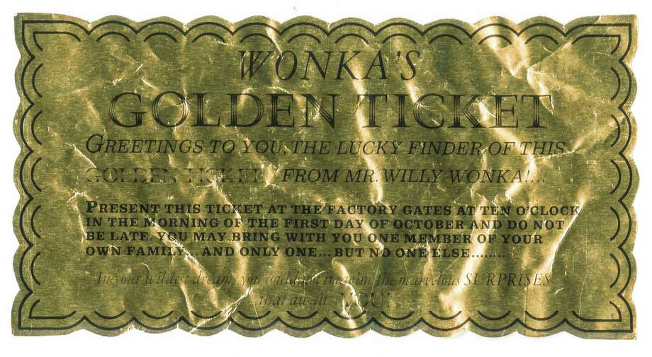 """An original Golden Ticket from """"Willy Wonka and the Chocolate Factory"""" seen in the film.Estimated Value: $15,000 - $20,000 Photo: Profiles In History"""