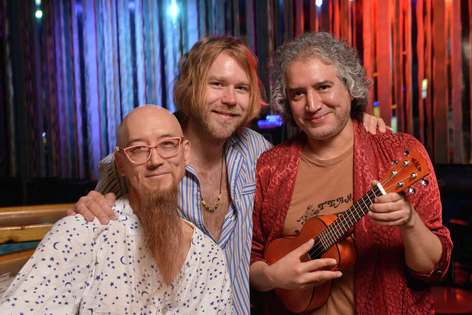 The band Buttercup, (left-right) Odie, Erik Sanden, and Joe Reyes pose. at the Cobalt Bar where they will perform a 7am show on Oct. 2. Photo: Robin Jerstad / San Antonio Express-News