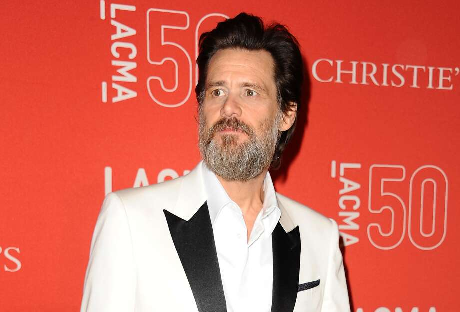 Actor Jim Carrey attends LACMA's 50th anniversary gala at LACMA on April 18, 2015 in Los Angeles, California.