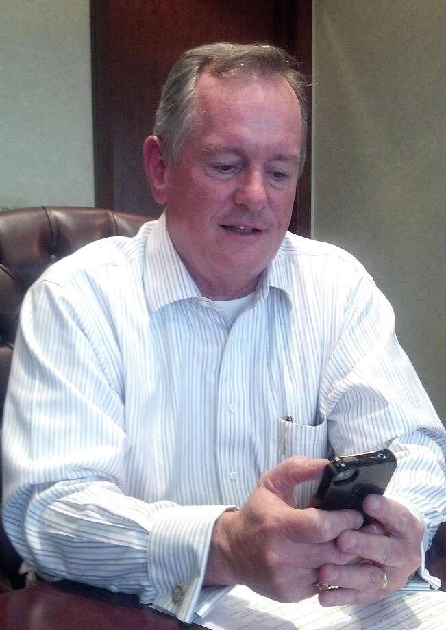 Vernon Pierce, Entergy Texas vice president, Beaumont , joins the Sabine Neches Navigation District board, Sept. 28, 2015   Dan Wallach/The Enterprise