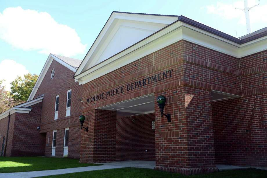 The new entrance to The Monroe Police Department. Photo: Autumn Driscoll / Autumn Driscoll / Connecticut Post