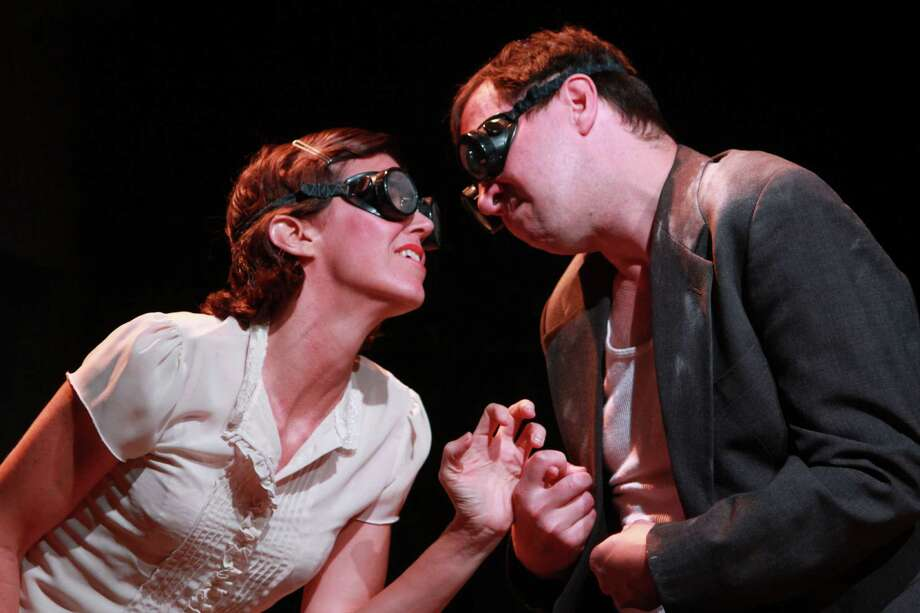 """Amy Bruce and Troy Schulze in this scene from Catastrophic Theatre's production of  Maria Irene Fornes' play """"The Danube.""""  (For the Chronicle/Gary Fountain, September 23, 2015) Photo: Gary Fountain, Freelance / Copyright 2015 by Gary Fountain"""