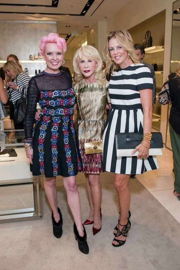 Heart of Fashion kick off on Tues., Sept. 15, at Valentino in the Galleria with guests Vivian Wise, Diane Lokey Farb and Elizabeth Petersen Vivian Wise, Diane Lokey Farb, Elizabeth Petersen Photo: Michelle Watson, Photographer / Owner / © 2015 Michelle Watson. All rights reserved.