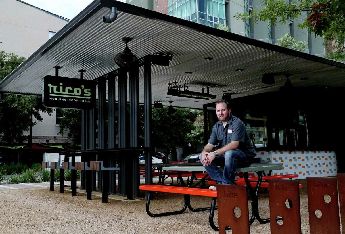 Jason Gould, chef and managing partner, Rico's Morning & Noon Night in Bagby Park. The kiosk opened in Bagby Park in Midtown in September 2015. It closed on Aug. 6, 2018.