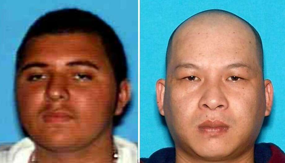 Two Richmond homicide victims who were shot while sitting in a car Monday night were identified as 31-year-old Eric Aguilar, pictured left, and 33-year-old Hoang Nguyen, pictured right, police said Tuesday. Photo: Richmond Police
