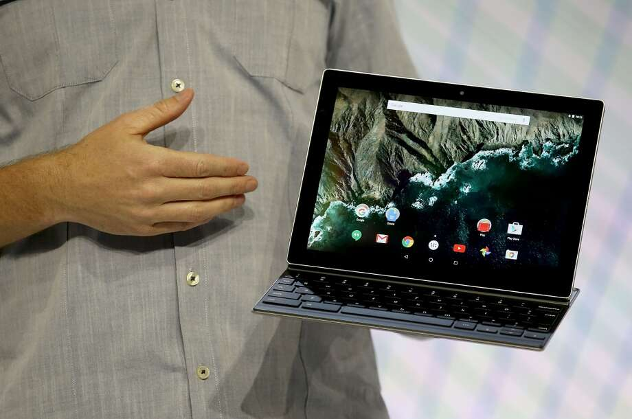 SAN FRANCISCO, CA - SEPTEMBER 29:  Google product manager Andrew Bowers announces the new Android-based Pixel C tablet during a Google media event on September 29, 2015 in San Francisco, California.  Google unveiled its 2015 smartphone lineup, the Nexus 5x and Nexus 6P, the new Chromecast and new Android 6.0 Marshmallow software features. (Photo by Justin Sullivan/Getty Images)(Photo by Justin Sullivan/Getty Images) Photo: Getty Images