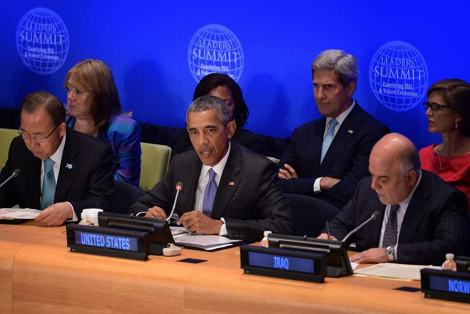 President Obama acknowledged the militant group is resilient and continues to expand. Photo: Pool, Getty Images
