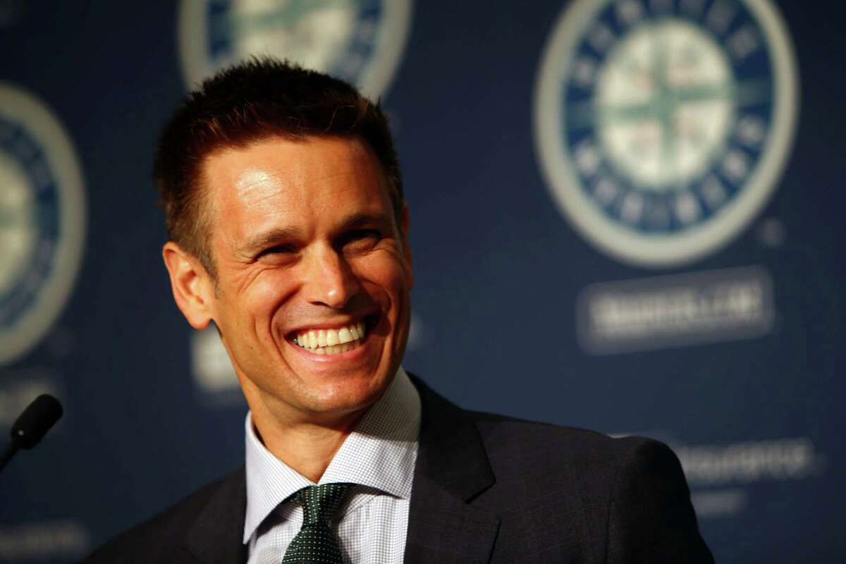 Jerry Dipoto speaks after he was introduced as the new Mariners General Manager at Safeco Field. Photographed Tuesday, September 29, 2015.