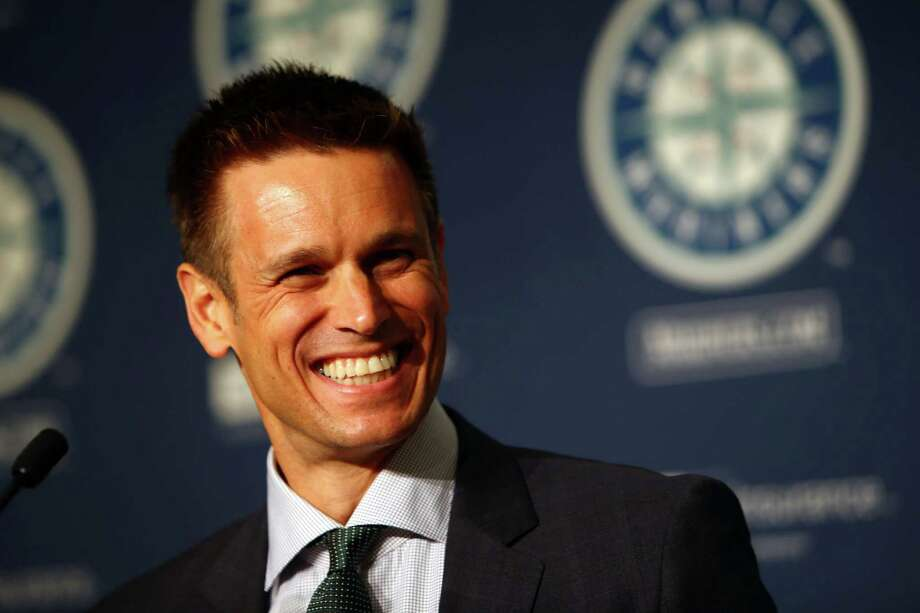 Jerry Dipoto speaks after he was introduced as the new Mariners General Manager at Safeco Field.  Photographed Tuesday, September 29, 2015. Photo: GENNA MARTIN, SEATTLEPI.COM / SEATTLEPI.COM