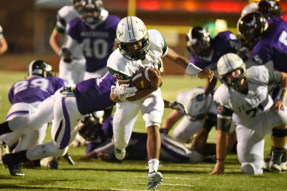Strake Jesuit running back Joshua Reece and the Crusaders face Katy Tompkins at Crusader Stadium Friday. Photo: Courtesy Strake Jesuit / Handout