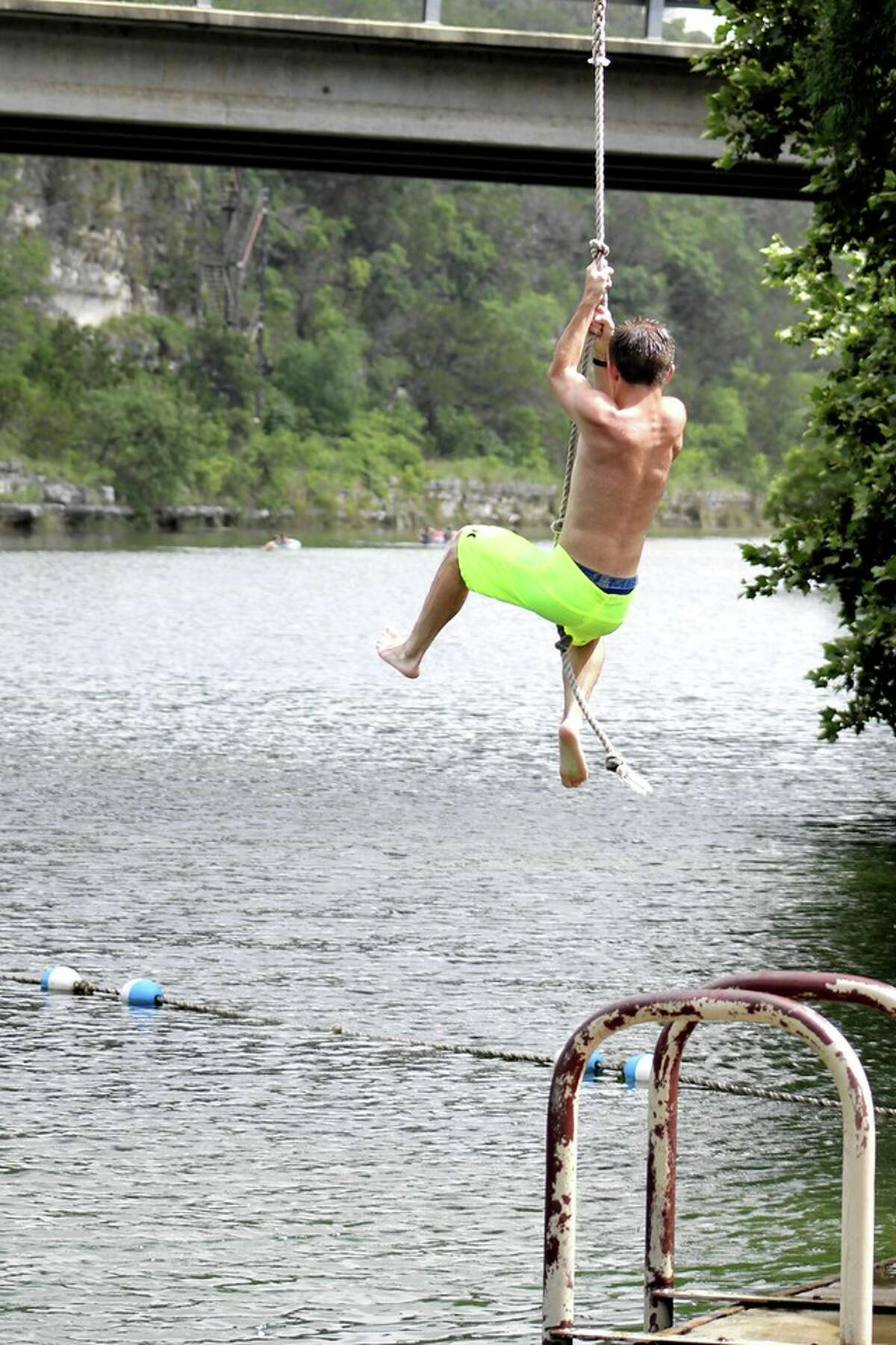 There will be rope=swinging exercises for those looking to dip in the water.