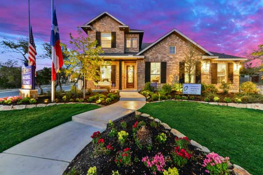 Sitterle Homes has several homes near completion in Kinder Ranch, a gated and wooded development located near Highway 281 and Highway 46 north of San Antonio. Prices are from the $290,000s. Photo: Courtesy