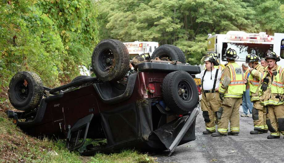East Greenbush police are investigating a rollover accident on Ridge Road near Celeste Street Tuesday afternoon Sept. 29, 2015 in East Greenbush, N.Y. (Skip Dickstein/Times Union) Photo: SKIP DICKSTEIN