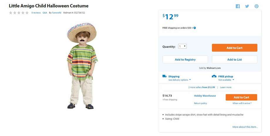 "This ""Little Amigo"" costume was taken down from Wal-Mart's website after some considered it to be racist/controversial."