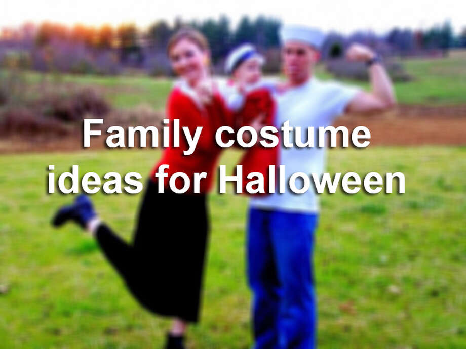 Click through the gallery to get some inspiration for family Halloween costumes.