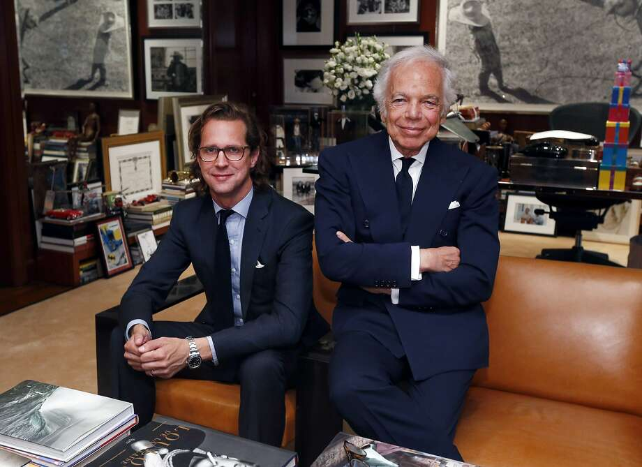 Designer Ralph Lauren (right) is turning his chief executive officer title over to Stefan Larsson, who has been the global president of Gap's Old Navy chain. Photo: Jason DeCrow, Associated Press
