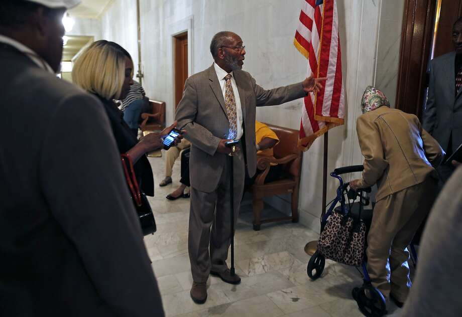 San Francisco NAACP President Amos Brown takes his concerns over income disparity to the Board of Supervisors. Photo: Scott Strazzante, The Chronicle