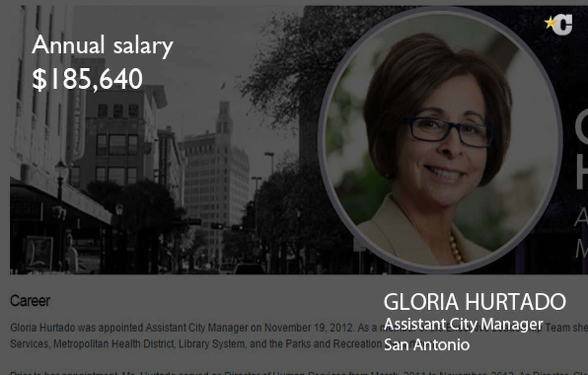 Gloria Hurtado Assistant City Manager  $185,640 Photo from the City of San Antonio
