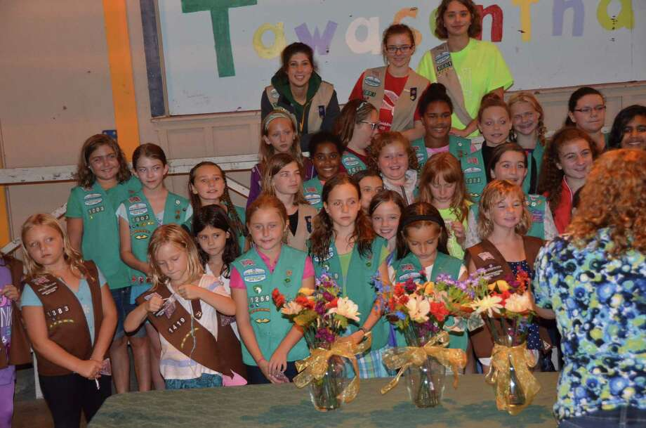 Seventy Girl Scout girls and adults from Guilderland Service Unit 192 participated in a Rededication Ceremony on Saturday, Sept. 12, 2015. (Theresa Smolen)