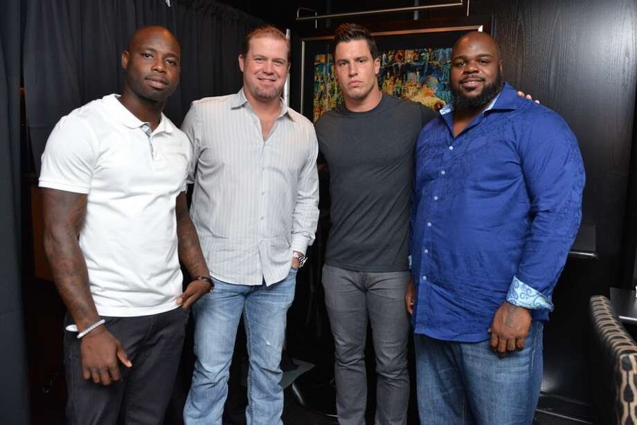 Johnathan Joseph, Shane Lechler, Brian Cushing, Vince WilforkThe Arian Foster Foundation hosted a fundraising event with Houston Texans teammates at Morton's Steakhouse in the Houston Galleria. Photo: Michelle Watson