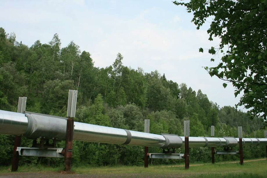 Visitors can see the Trans-Alaska Pipeline at the Fox visitor center, eight miles north of Fairbanks. (June 2013)   (Bill Montgomery  /  Houston Chronicle) Photo: Bill Montgomery